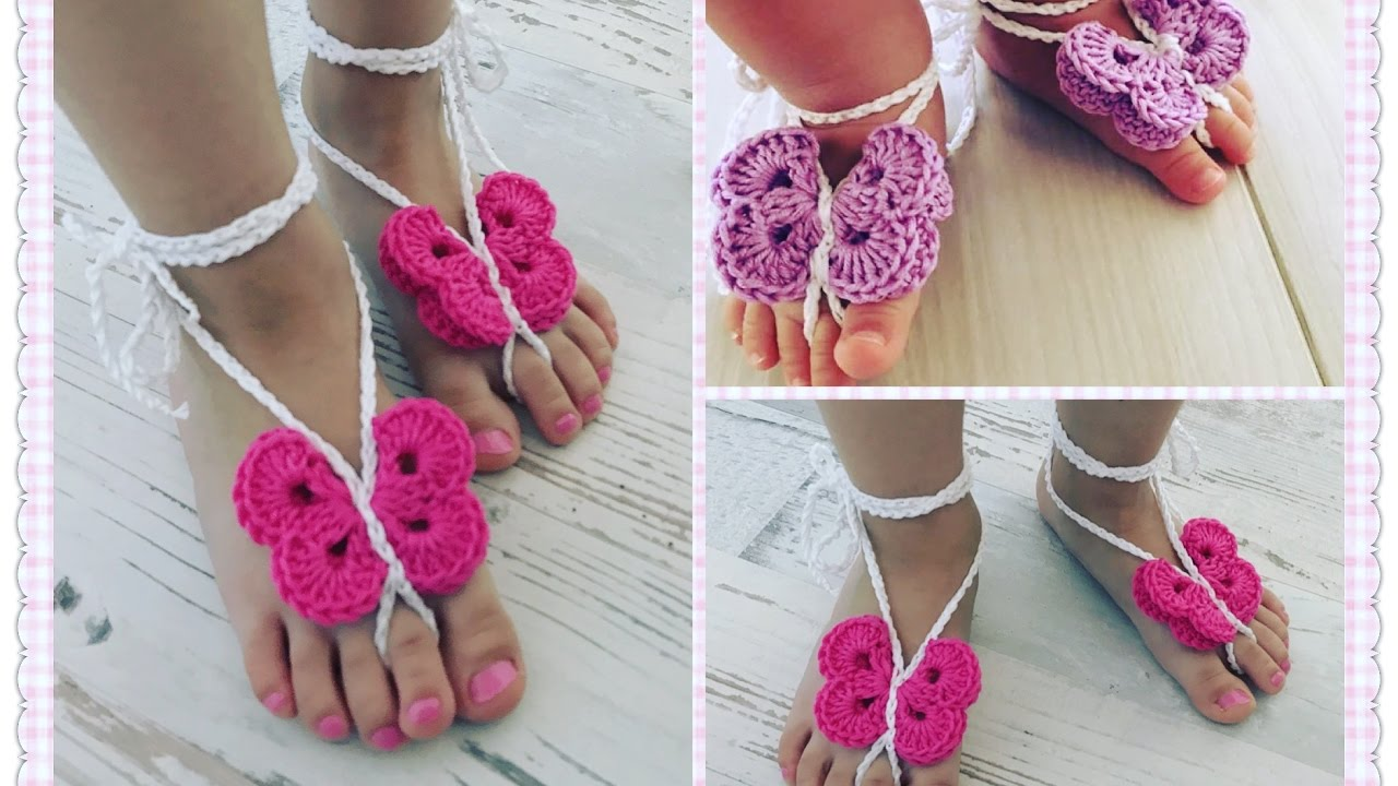 Einfache Barfuß Sandalen Häkeln Für Babys Und Kleinkinder Youtube