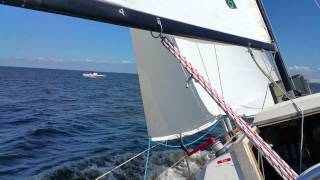 Chesapeake Bay Sailing - Cruising Near Mouth of Magothy River