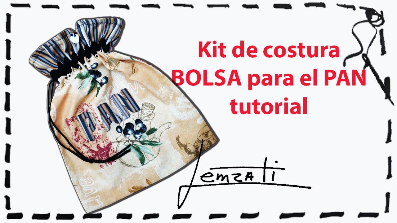 Como Hacer una Hermosa Bolsa para el Pan Tutorial(ESPAÑOL) - YouTube