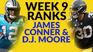 James Conner And D.J. Moore Highlight Our Discussion Week 9's Fantasy Football Ranks