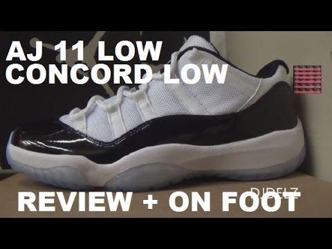 2426b4d9c4881e Air Jordan 11 Low Concord Mens Authentic Sneaker Review HD + On Foot ...