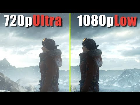 720p Ultra vs 1080p Low | Which is the best quality/performance ?