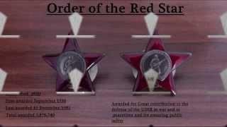 Боевые награды 1: Орден Красной Звезды 1 Orders of the Soviet Union part 1 Orden der Sowjetunion