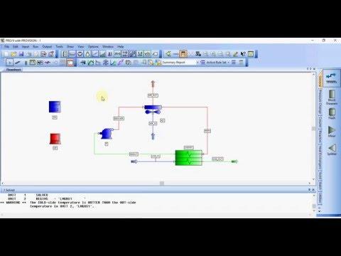 Simulating LNG regasification process (Pro/II)