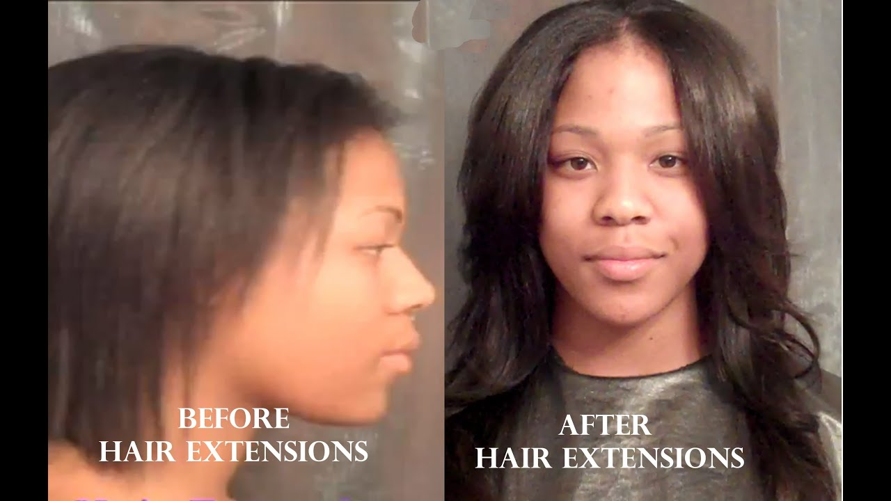 Protective Style Sewn In Hair Extensions Youtube