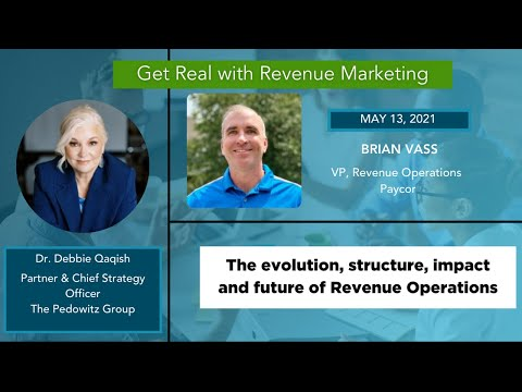 The Future of Revenue Operations | Brian Vass, Vice President Revenue Operations, Paycor