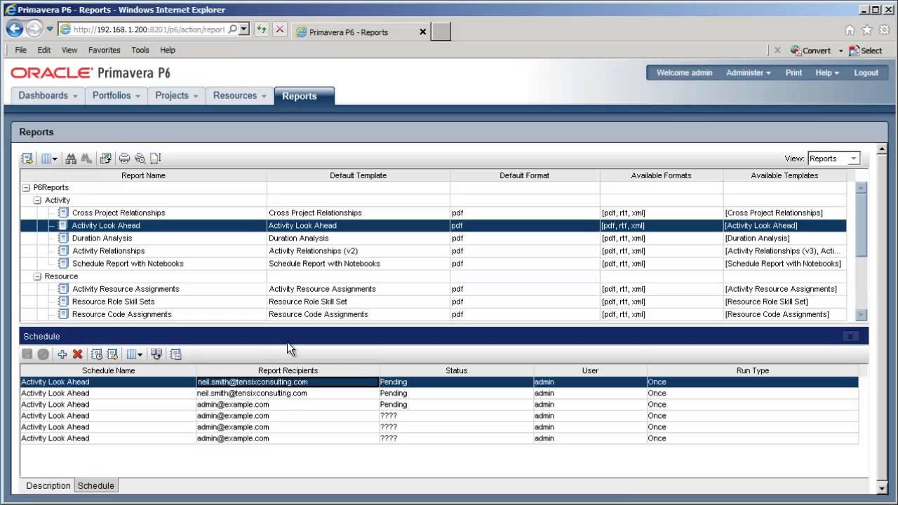 Using the bi publisher reports in primavera p6 eppm reports tab using the bi publisher reports in primavera p6 eppm reports tab baditri Images