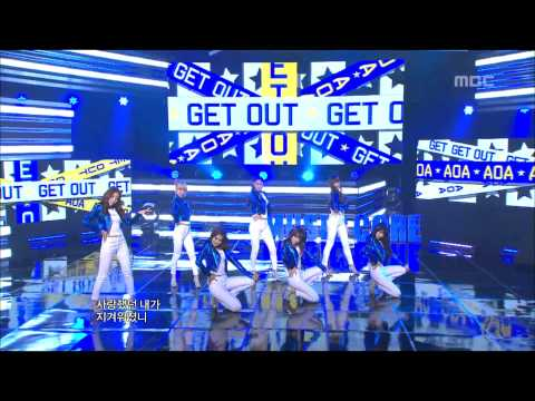 AOA - Get Out, 에이오에이 - 겟 아웃, Music Core 20121103