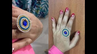 How To Make Ring Using Wire, Ball Chain And Stone At Home | Creative Things