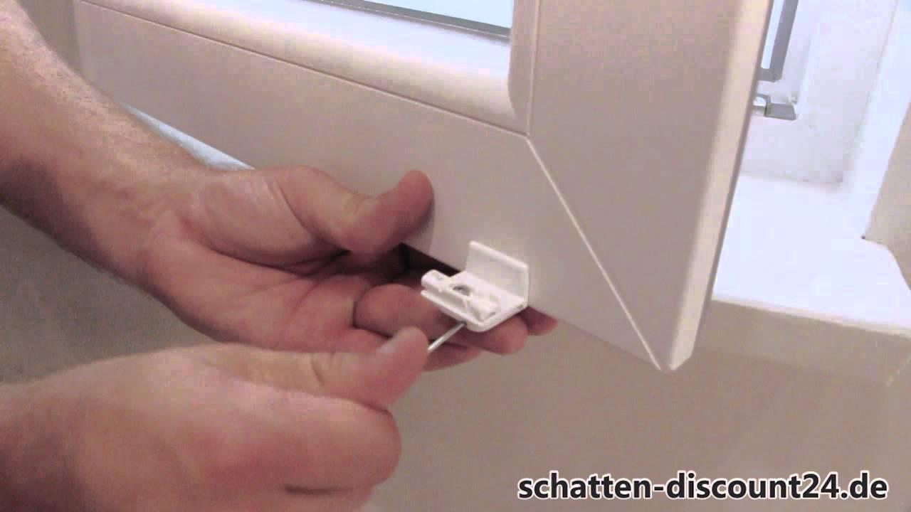 Favorit Plissee VS1 - Aufmaß und Montage auf dem Fensterflügel mit HK99