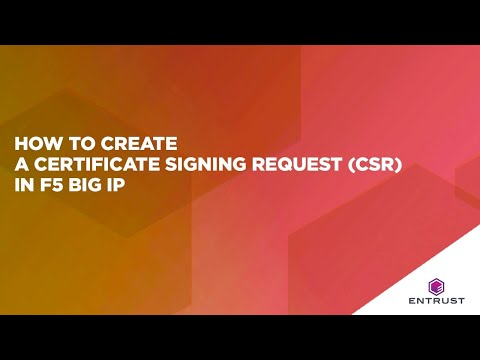 How to Create a Certificate Signing Request (CSR) in F5 Big IP