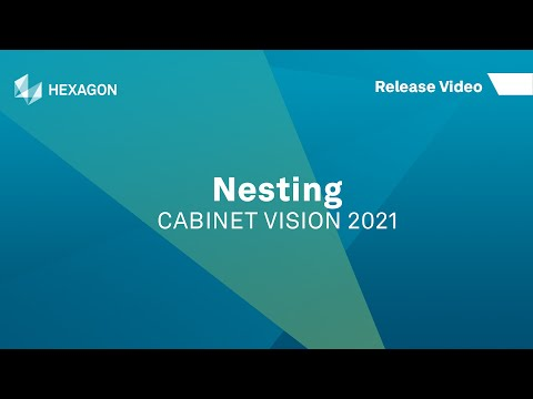 Nesting | CABINET VISION 2021