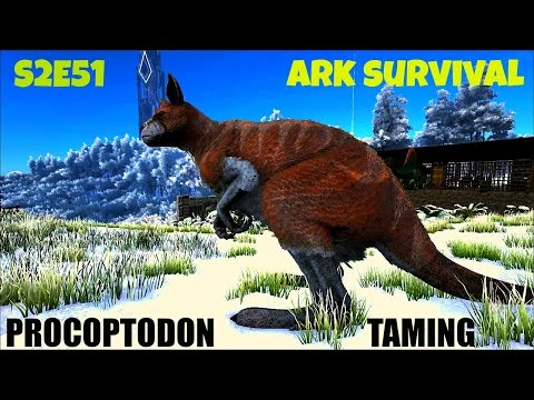 Procoptodon Taming Guide and Tips | Kangaroo (E51) ARK: Survival Evolved