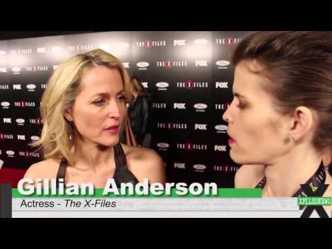 Gillian Anderson at The X-Files: Season 10 Premiere
