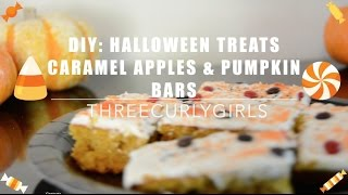 DIY Halloween Treats: Caramel Apples & Pumpkin Bars Thumbnail