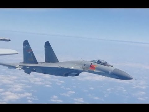Chinese PLA Air Force Conducts Round Taiwan Island Flight