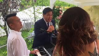 Bryan Magsayo jamming with Martin Nievera & Angel Ram