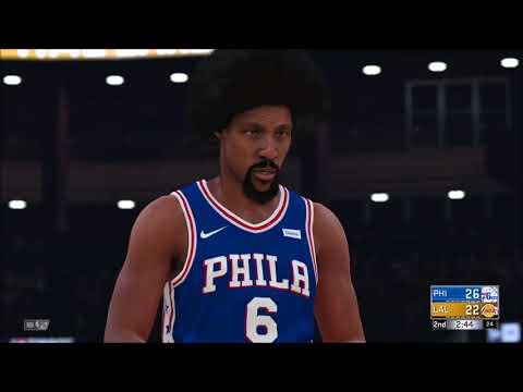 NBA 2k18 ALL TIME SIXERS VS ALL TIME LAKERS 5V5 GAMEPLAY! ALLEN IVERSON & DR J VS KOBE & SHAQ