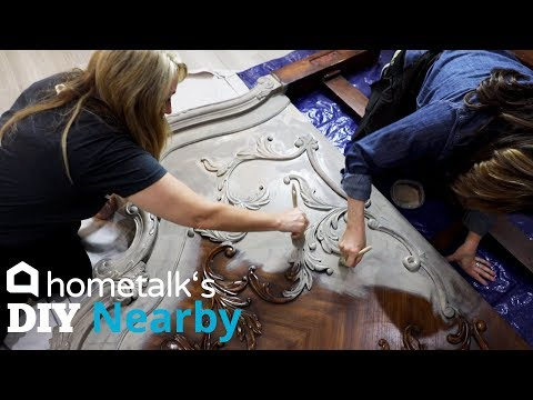 Chalk Paint Bed Makeover | DIY Nearby | Hometalk
