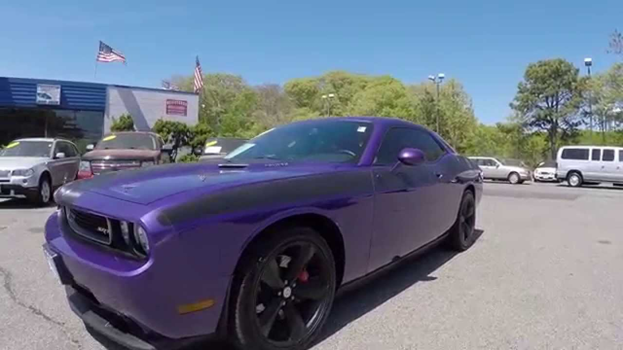 2010 dodge challenger srt8 for sale plum crazy 6 speed 730n navi group ii loaded youtube. Black Bedroom Furniture Sets. Home Design Ideas