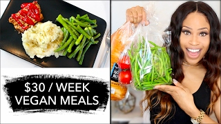 How To Eat VEGAN for Only $30 A WEEK! ➟  grocery haul + meal ideas