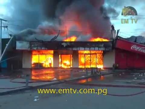 Business houses gutted by fire at Tabari Place