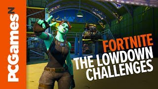 The Lowdown Challenges -  E.G.O. outposts and hidden 'N' | Fortnite Season 11
