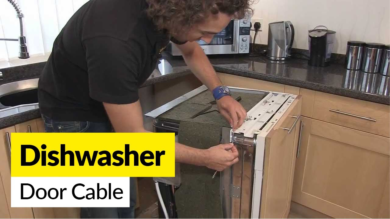 How To Replace A Dishwasher Door Cable Youtube