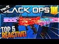 TOP 5 BEST REACTIVE CAMOS IN BLACK OPS 4! BEST REACTIVE CAMO TO USE IN BO4 (Black Ops 4 Top Five)