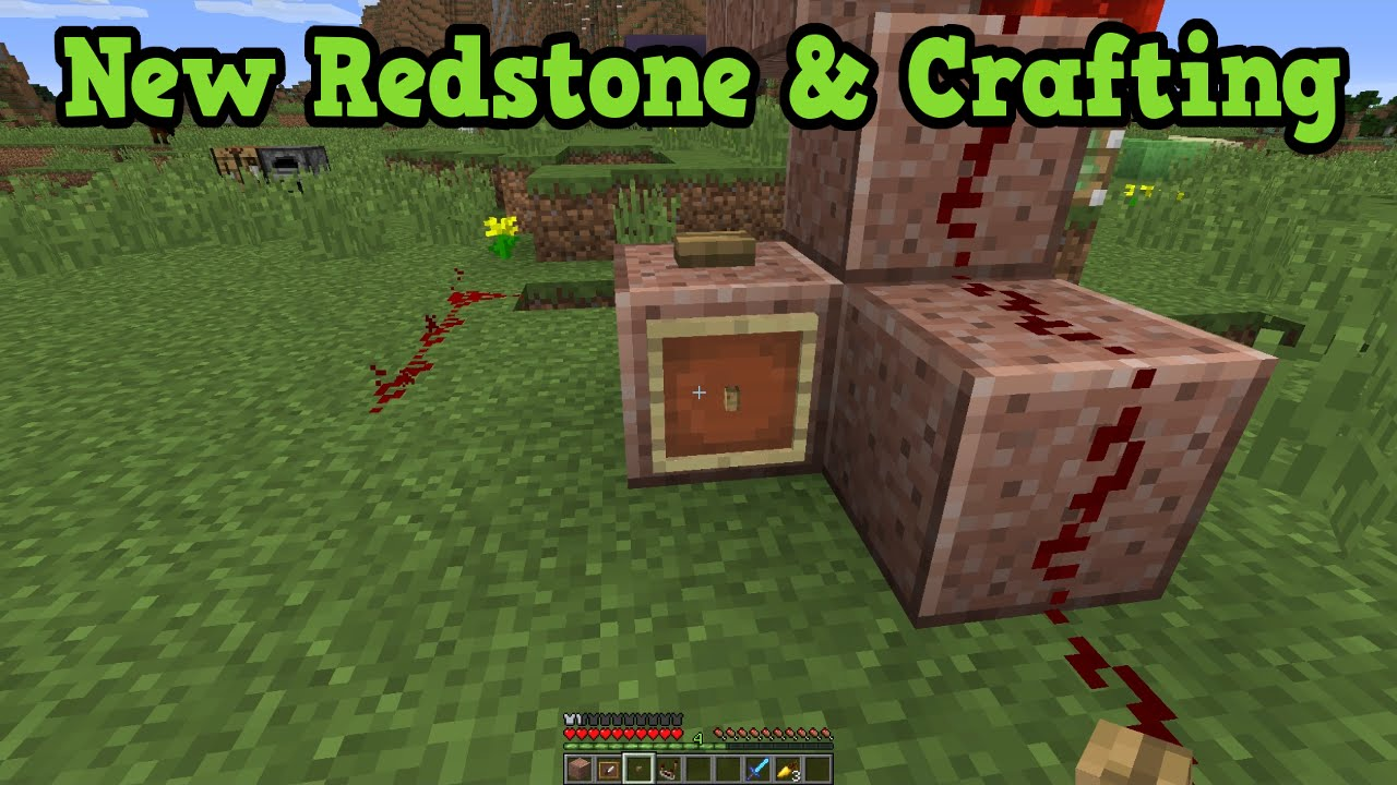 Minecraft tu31 features xbox 360 ps3 new redstone for Minecraft xbox one crafting recipes
