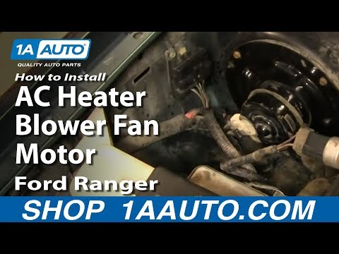 How to install replace ac heater blower fan motor ford for How to test ac blower motor