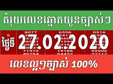 តម្រុយឆ្នោតយួនថ្ងៃនេះ ថ្ងៃទី27/02/2020 ប៉ុស្តិ៍ A.B.C.D Vietnamese Lottery Today 27/02/2020 By SOLIN