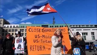 Guantanomo Global Action Day Berlin 24.Januar #USOutofGuanatamo #EEUUFueradeGuantanamo
