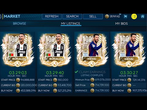 THE MOST EXPENSIVE UTOTS IN FIFA MOBILE // 100 OVR UTOTS MESSI AND RONALDO // 1 BILLIONS IN MARKET