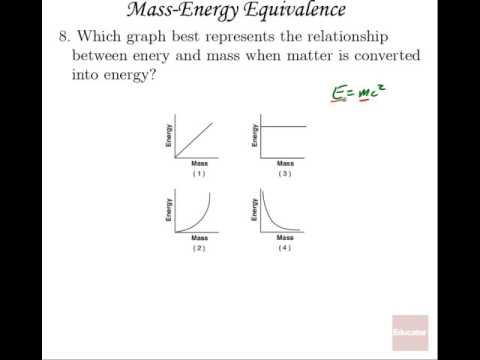 AP Physics B Tutorial Additional Examples Mass Energy
