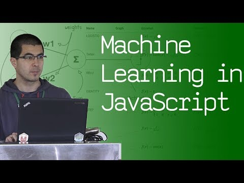 Machine Learning in Javascript - talk by @Bondifrench