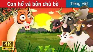 Con hổ và bốn chú bò | Tiger and Buffaloes Story in Vietnamese | Truyện cổ tích việt nam