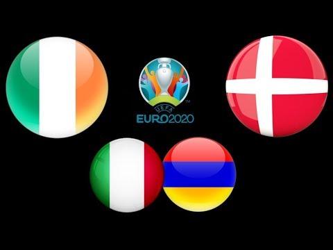 Ирландия Дания / Италия Армения / Евро-2020 / Смотрю матчи