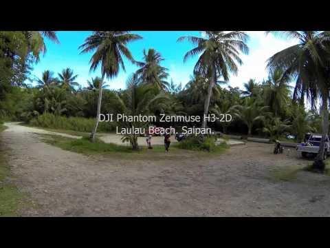 DJI Phantom H3-2D Laulau Beach. Saipan.