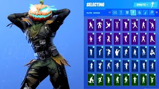 HOLLOWHEAD HEADLESS HORSEMAN SKIN SHOWCASE WITH ALL FORTNITE DANCES & EMOTES