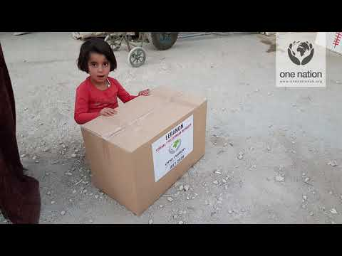 Food and Water Distributed to Syrian and Palestinian Refugees in Lebanon