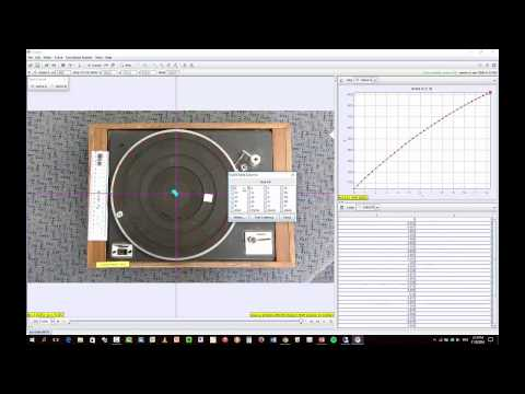 rotational motion with tracker