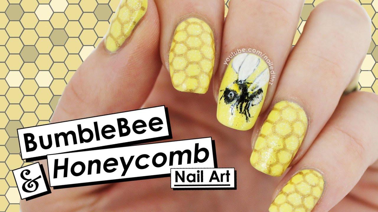 Bumblebee & Honeycomb Nail Art   NAIL CRUSH = PiggieLuv   Nailed It ...