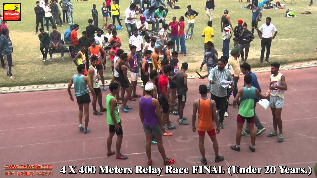 4X400 METRES RELAY | BOYS UNDER 20 Yrs FINAL | at 90th PUNJAB OPEN ATHLETICS MEET, LUDHIANA - 2015 |