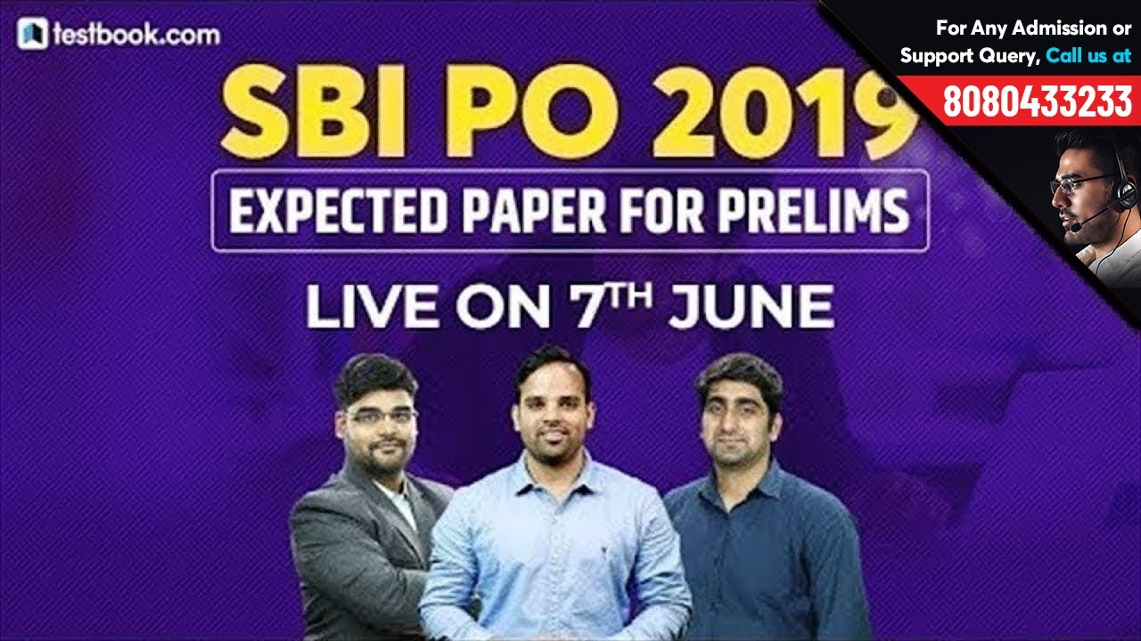Expected SBI PO Prelims Question Paper 2019 | Crack SBI PO 2019 | SBI PO Last Minute Tips & Stra