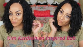 Styling Hair Tutorial: Kim Kardashian Bob Hairstyle| Rpghair.com