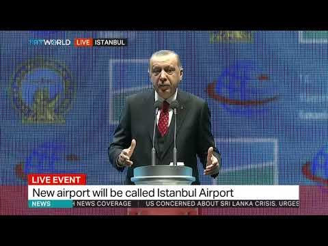 Turkey's president Erdogan opens new Istanbul Airport