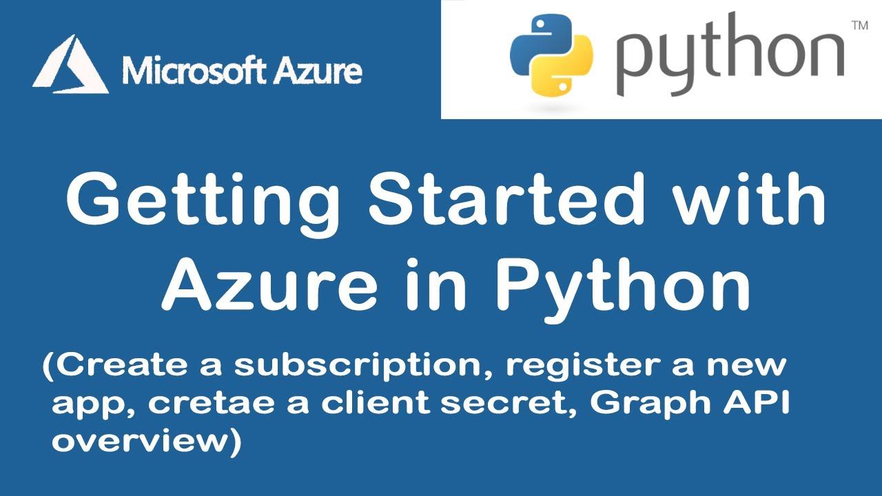 Getting Started with Microsoft Azure in Python