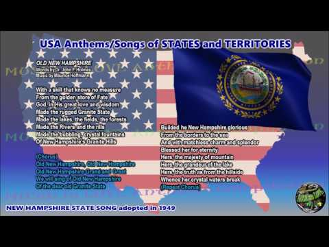 New Hampshire State Song OLD NEW HAMPSHIRE with music, vocal and lyrics