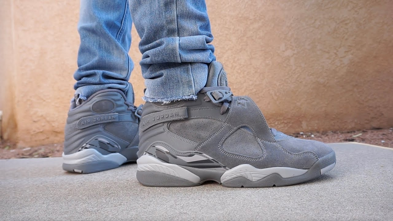 air jordan retro 8 grey